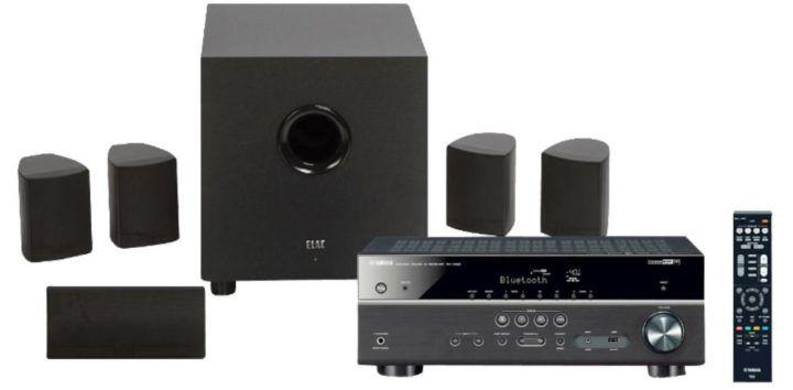 YAMAHA RX V483 Receiver + ELAC Cinema 5.1 Heimkino System für 444€ (statt 868€)