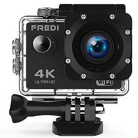 FREDI 4K Action Cam inkl. viel Zubehör für 31,79€ (statt 53€)