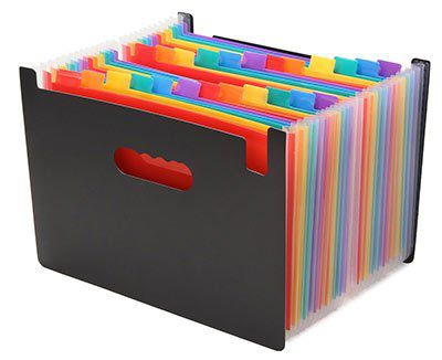 Bunte Dokumentenmappe (A4) mit 24 Taschen für 9,98€ (statt 17€)