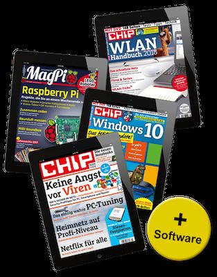 3 Monate E Paper CHIP + MagPi + Sonderhefte für 17,97€ + 10€ Amazon Gutschein