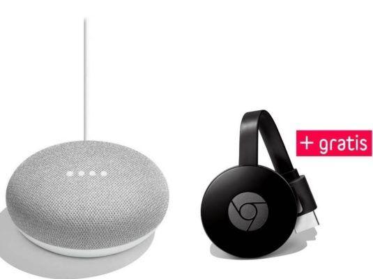 Google Home Mini Lautsprecher + Chromecast 3 für 49€ (statt 76€)