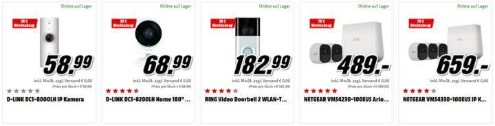 Media Markt: günstige Smart Home Sicherheits Angebote   z.B. D LINK DCS 8000LH IP Kamera für 38,99€ (statt 53€)