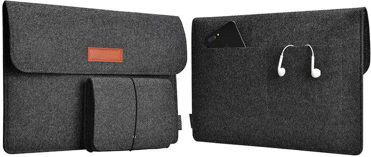 dodocool Laptoptasche aus Filz für Geräte bis zu 13,3 Zoll für 6,66€