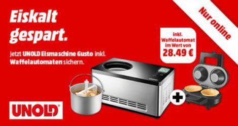 UNOLD Gusto Eismaschine + Unold Bowl Waffelautomat für 249€