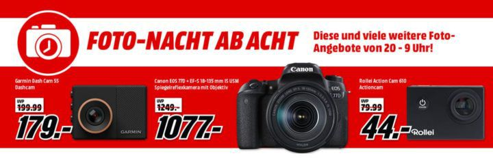 Media Markt Foto Late Night: z.B. ROLLEI 610 Action Cam für 44€