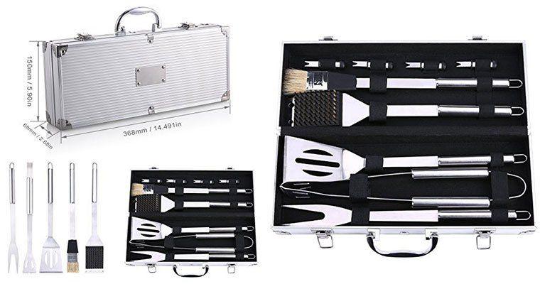 Grillbesteck inkl. Koffer für 16,99€ (statt 27€)
