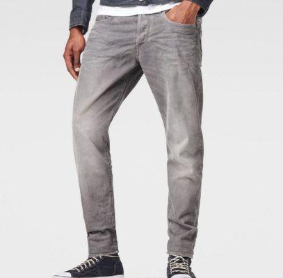 G Star Raw 3301   graue Herren Tapered Denim Jeans für je 58,48€
