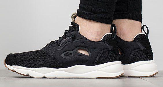 best value 2acc2 b1fb4 Reebok Classics Damen Furylite Loom Sneakers in Schwarz für ...