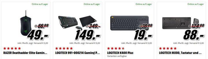 Media Markt GiGaGünstig Sale: PC Hardware & Zubehör reduziert   z.B. ASUS RX 570 ROG 4GB Grafikkarte für 255€ (statt 307€)