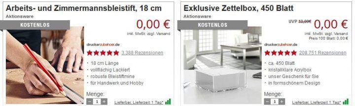 Druckerzubehör Räumungsverkauf mit bis zu 95% auf die UVP   z.B. PLA Filament 1 kg ab 15,97€