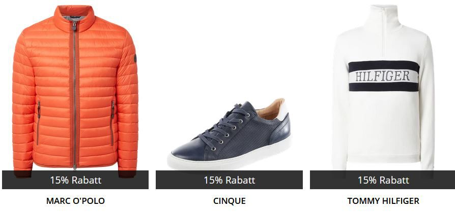🔥 Peek & Cloppenburg* mit 15% Extra Rabatt auf ausgewählte Herren Kleidung   z.B. BOSS, Gant oder Hilfiger