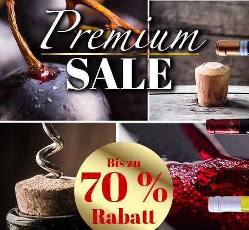 Premium Sale bei Weinvorteil mit bis zu 70% Rabatt   Weine ab 4,99€ pro Flasche
