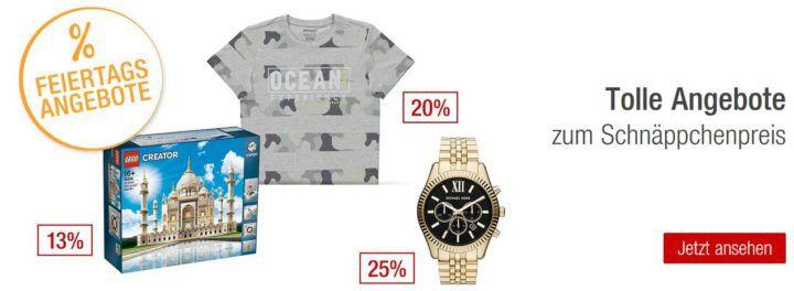 Galeria Kaufhof Feiertagsangebote   z.B. 20% auf Rot  und Weißweine, 25% Rabatt auf ausgewählte Uhren  und Schmuckmarken uvam.