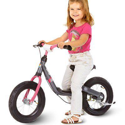 Kettler Run Air Girl   Laufrad in Grau/Pink für 60,44€ (statt 73€)