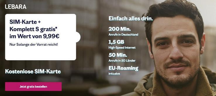 Gratis: Lebara SIM mit 1,5GB und 200 Minuten für 28 Tage komplett kostenlos (statt 9,99€mtl.)