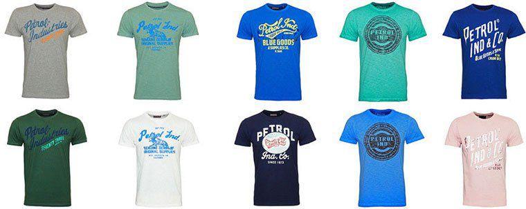 38 Petrol Industries T Shirts mit Motiv für je 13,49€