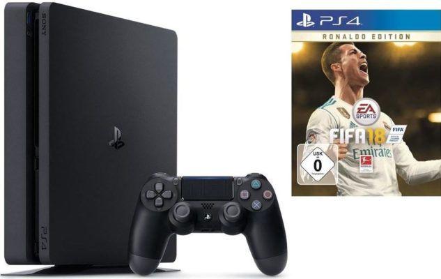 PlayStation 4 slim 1TB + FIFA 18 + 2. DualShock4 Controller für 288€ (statt 349€)