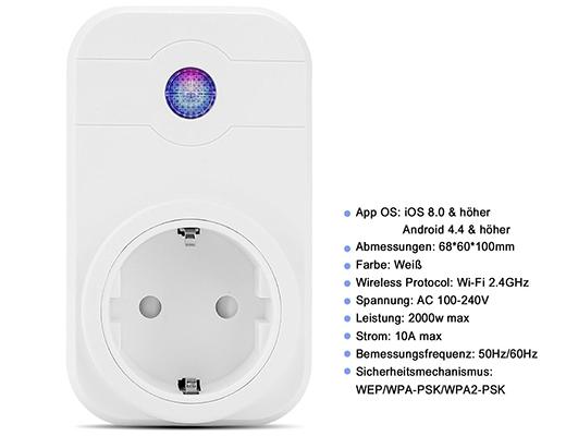 Leyuee WiFi Steckdose mit App  & Echo Unterstüzung für 7,49€ (statt 15€)