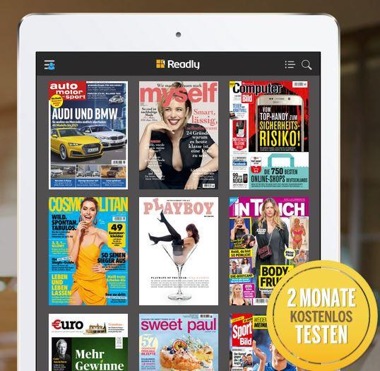 Readly Magazin Flatrate: 3 Monate für 0,99€ (statt 29,97€)