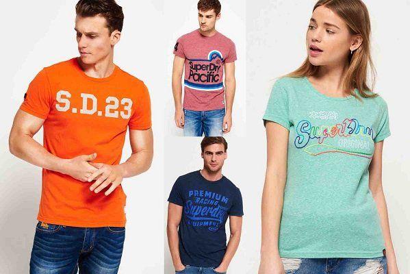 Superdry Herren Shirts   verschiedene Modelle für je 15€