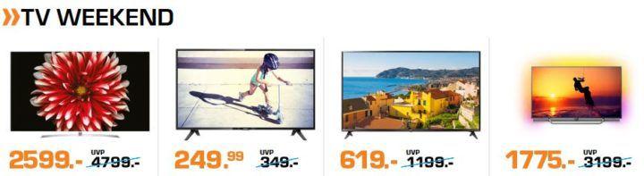 Saturn Weekend Sale günstige TV & Haushaltsangebote