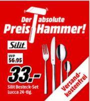 MM Preishammer: SILIT Lucca   24 teiliges Crominox Edelstahl Besteck Set für 33€