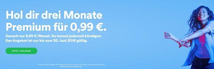 3 Monate Spotify Premium für nur 0,99€   nur für Neukunden