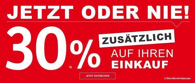 XXXLutz Online Shop mit 30% auf (fast) Alles