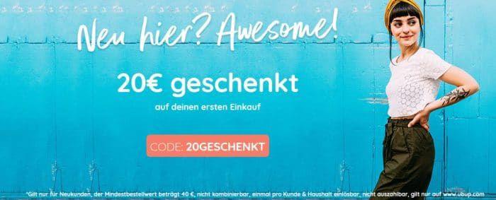 21€ Ubup Neukunden Gutschein (38€ MBW)   günstige Second Hand Fashion