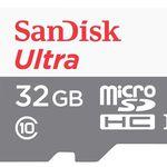 DOPPELPACK – SanDisk Ultra microSDHC 32GB Class 10 Speicherkarte für 12€ (statt 20€)