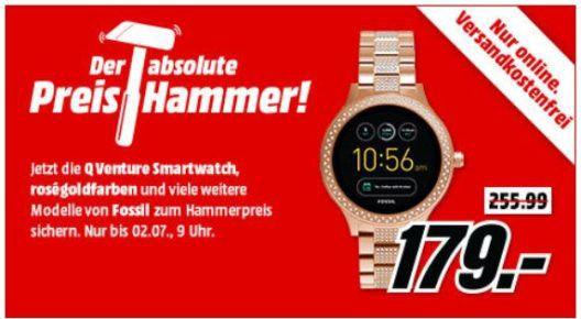 MM Preishammer: günstige Smartwatchs von FOSSIL   z.B. FOSSIL FTW1166 Q Machine Hybrid für 79€ (statt 129€)