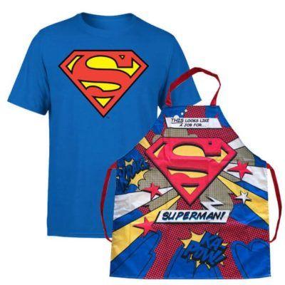 Superman T Shirt + Schürze Bundle für 13,48€