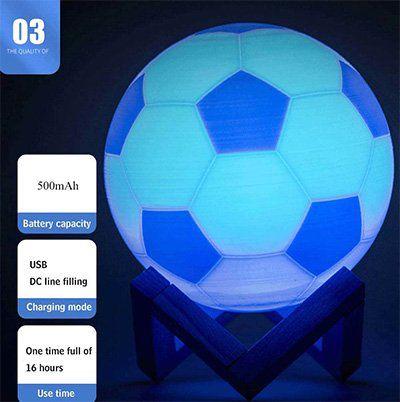 YWXLight   runde RGB LED Lampe Fußball für 10,43€