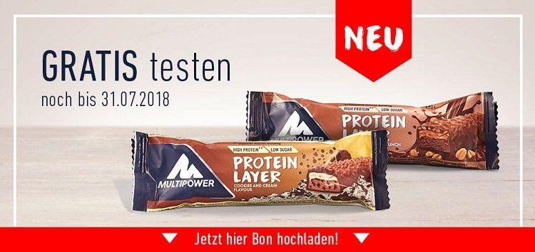 2 x Multipower Layer Proteinriegel gratis testen