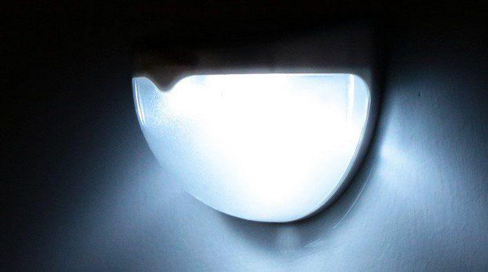 Lixada Solar Wandleuchte mit 6 LEDs für 3,39€