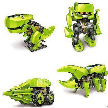 4 in 1 Solarroboter Dinosaurier zum Aufbauen für 7,15€
