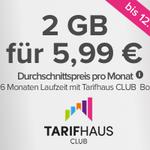 Nur 6 Monate Laufzeit: Vodafone Flat mit 2GB ab eff. 7,66€ mtl.