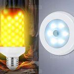 Utorch Nachtlicht mit 6 LEDs und Bewegungssensor inkl. flammende LED Glühbirne für 2,66€