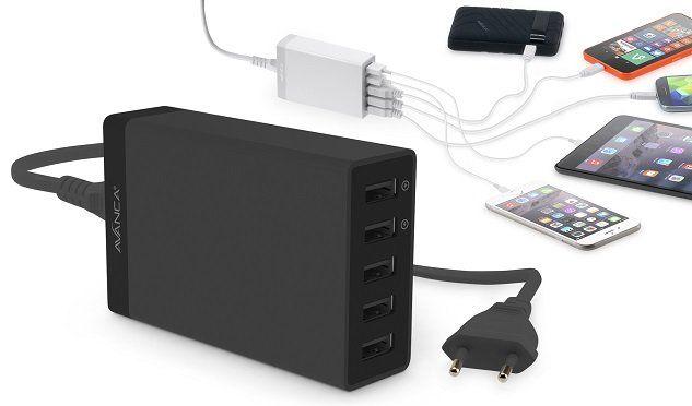 Avanca USB Hub mit 5 Ports in weiß oder schwarz für 14,95€ (statt 50€)