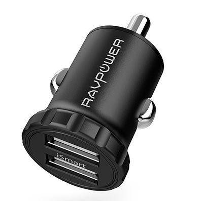 RAVPower RP PC031   Mini USB Kfz Ladegerät für 7,49€ (statt 10€)