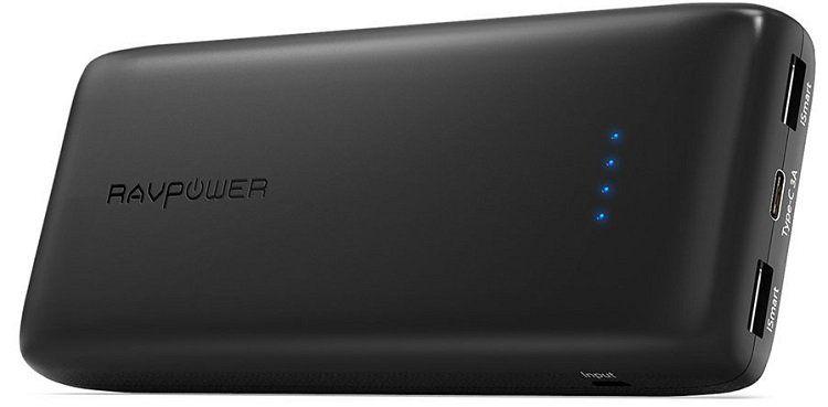 RAVPower (RP PB052) Powerbank mit 22000mAh für 25,99€ (statt 32€)