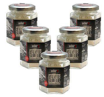 5x 100g Weber Fleur de Sel Gourmet Salz für 9,99€ (statt 25€)