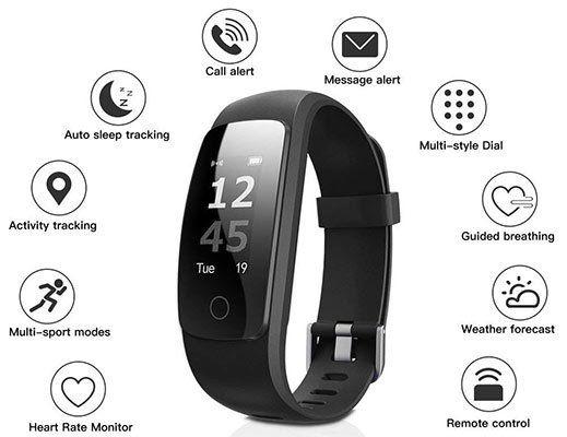DBFIT Fitnesstracker mit Pulsüberwachung, Schrittmesser, Schlaferkennung & mehr Funktionen für 22,99€ (statt 31€)