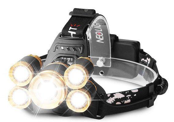 Laluztop Stirnlampe mit 5 LEDs und 4 Modi für 17,49€ (statt 25€)