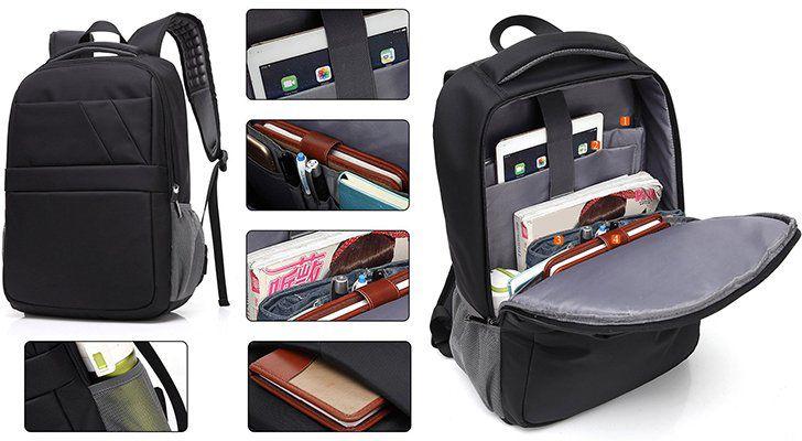 Genold Business Laptop Rucksack mit USB Anschluss für 13,51€ (statt 39€)