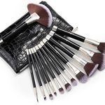 Anjou 12tlg. Kosmetikpinsel-Set inkl. Tasche für 9,99€ (statt 13€)