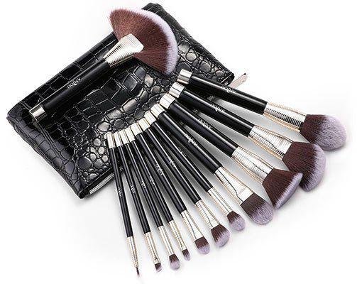 Anjou 12tlg. Kosmetikpinsel Set inkl. Tasche für 9,99€ (statt 13€)