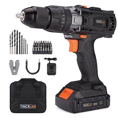 Tacklife PCD04B Akku Bohrschrauber/ hammer (18V & 2 Akkus) für 73,99€ (statt 88€)