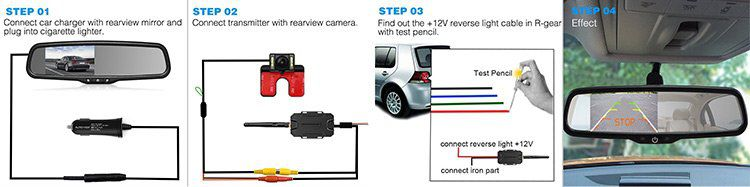 AutoVox T1400W   Kabelloses Rückfahrkamera Set für 101,99€ (statt 120€)