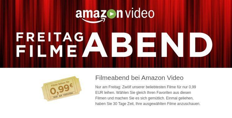 Amazon Freitag Filme Abend mit 10 Filmen in HD für je 0,99€ leihen